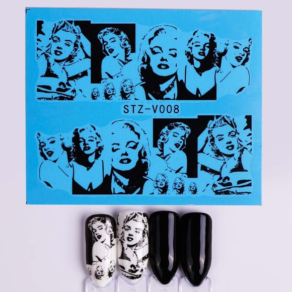 50% off Makeup Marilyn Monroe Nail Decals | Poshmark